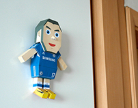 Eden Hazard Paper toy