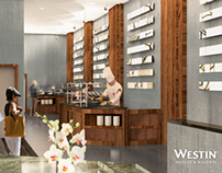 The Westin Bellevue — Cypress Lounge 3D Visualization