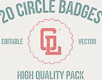 20 Circle Badges