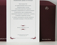 Invitation to the opening of the new Mercedes saloon
