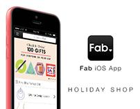 Fab.com Mobile App 6.0 | Holiday Shop