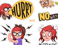 VIBER sticker set 1, Zoe