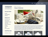 Cream Cornwall eCommerce web design