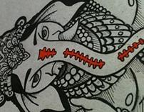 Ilustrações deuses Hindus / Illustration Hindu gods
