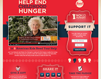 Food Network Holiday Page for No Kid Hungry