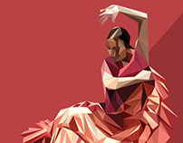 Flamenco triangular