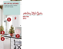 Bon Ton Style Guide: Holiday 2013 Layout Designs