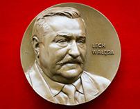 Piotr Lesniak - medal of President Lech Walesa