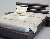 Modern Bed v03 3D Model
