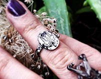 The Dagger Alphabet, Silver Hand Crafted Intaglio Ring