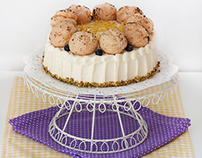Lemon, poppy seed and blueberry cake