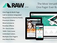 RAW - One & Multi Page Multi-Purpose Theme