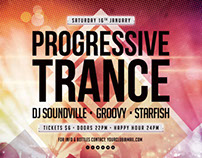 Progressive Trance Flyer Template