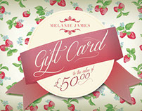 Melanie James Gift Cards