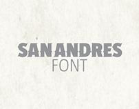 Diseño de fuente tipográfica / SAN ANDRES