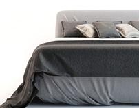 Modern Bed v04 3D Model