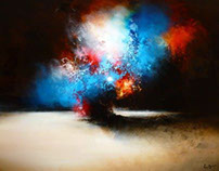 Abstract painting by Simon Kenny