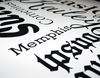 Typography Families.