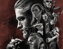 Sons of Anarchy - Illustrated Poster