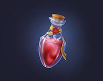 Bottle of magic potion