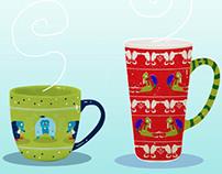 Beaver Holiday Mugs!