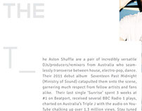 Feedback Asia Artiste Bio Sheets