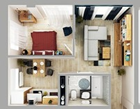 Apartment plan render