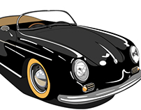 Porsche 356 Speedster - Vector Illustration