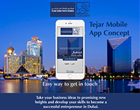 Tejar Dubai Youth Council - Mobile App Concept