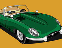 Jaguar E type - Vector graphic illustration