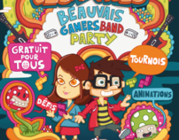 Gamersband party promotional poster