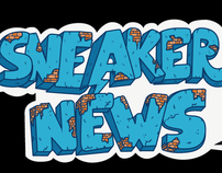 Vinyl Banner and stickers design for Sneakernews
