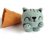 Scoopsie Black Sesame, ice cream Art Toy