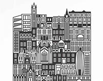 'British Architecture' print by Emil Paun