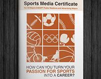 Sports Media Certificate Brochure