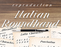 Italian Roundhand Typeface