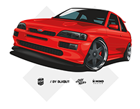 Ford Escort RS Cosworth illustration