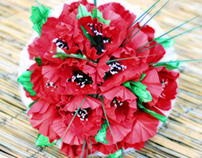 Red Poppies Paper Flowers