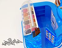 Nestle Ice Cream Booth ( Stand Ice Cream 3x3)