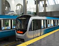 Azur: Montreal Metro Cars Public Transportation
