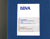 Concert Program  //  BBVA