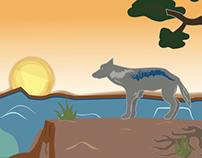 Woody Crumbo Tribute: Coyote Sunset