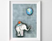 """Ilustração Infantil - """"dream"""""""