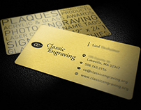 Classic Engraving Business Cards