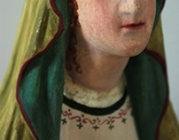 Painted plaster statue of Maria
