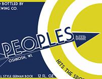 Beverage Label Redesign (Peoples Beer)