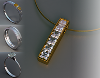Jewellery Project - created using 3DS Max & V-Ray