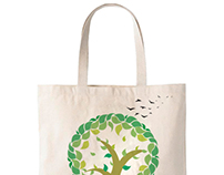 Beautiful grocery bag