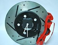 Clock made from a brake rotor