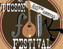 Tucson Folk Festival Poster (Contest Finalist 2013)